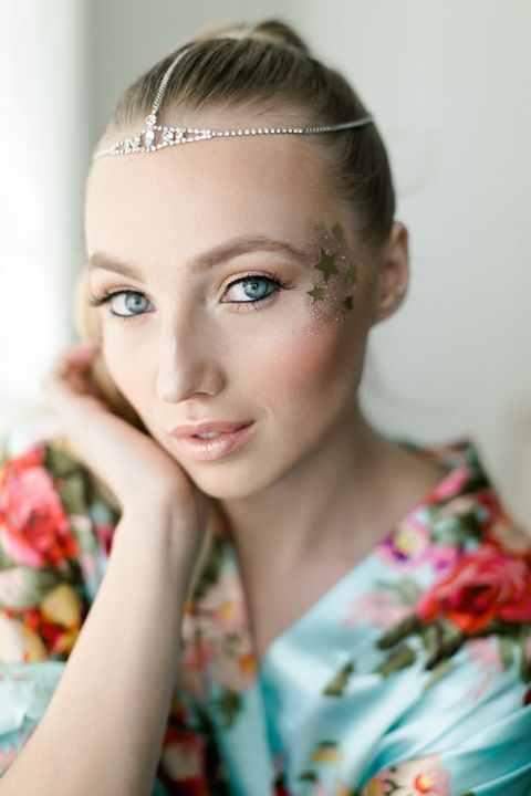 Stardust Inspired Makeup for a Celestial Wedding