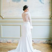 Lace and Crepe French Couture Wedding Dress