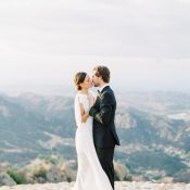 Gorgeous Malibu Wedding Photos with a View of the Mountains