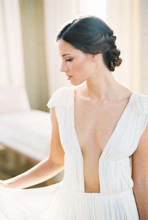 Luxe Plunging Neckline Musat Wedding Dress