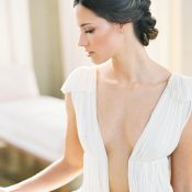Luxe Plunging Neckline Musat Wedding Dress
