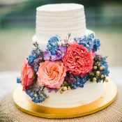 Colorful Chic Floral Wedding Cake