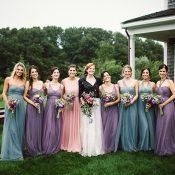 Pastel Mismatched Bridesmaid Dresses