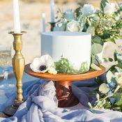 Simple Agate Inspired Wedding Cake