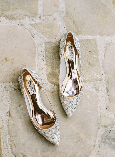Crystal Heels for a Bridal Glam Look