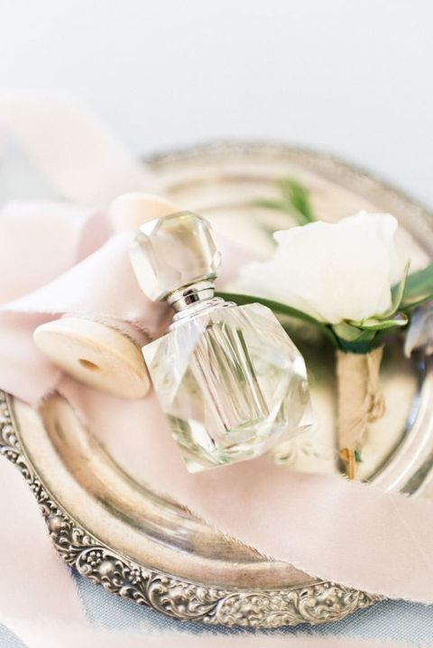 Cut Crystal Perfume Bottle