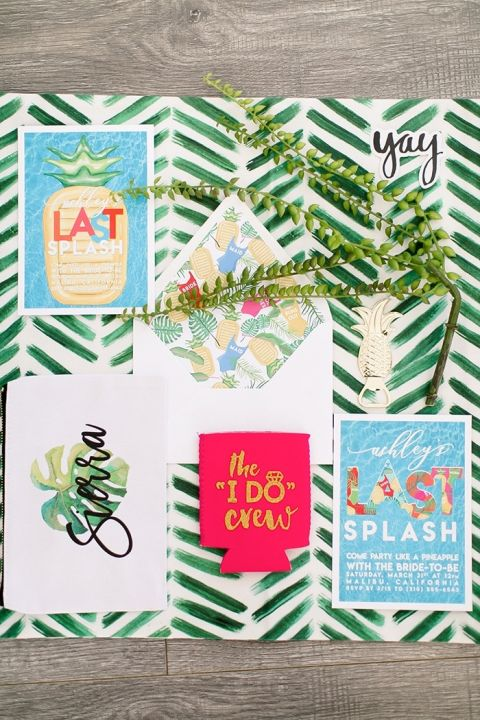 Tropical Greenery Invitation Suite
