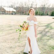 Modern Southern Style for a Chic Two Piece Crop Top Wedding Dress