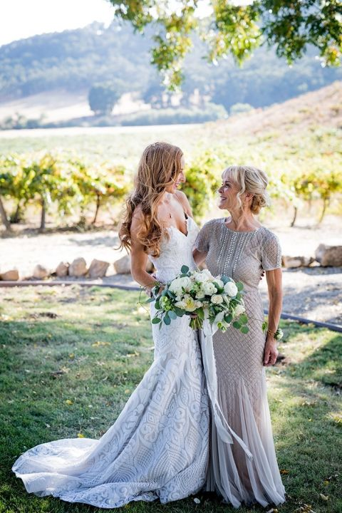 Gorgeous Champagne Wedding Dresses for the Bride and her Mother
