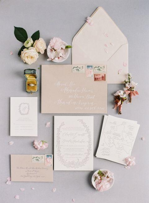 Delicate Blossom Wedding Invitation Suite