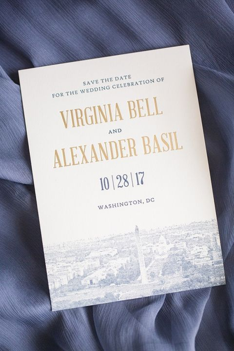 Cityscape Invitation for a DC Wedding