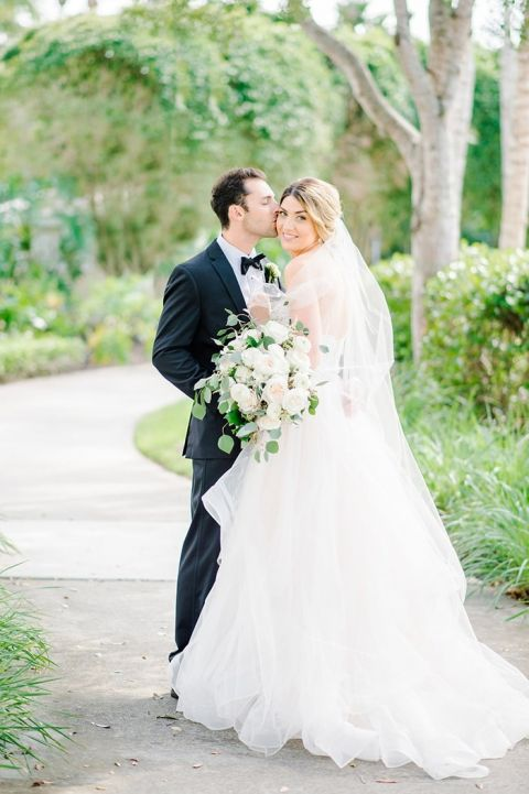Whimsical Romance with a Blush Pink Wedding Dress