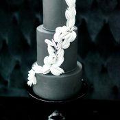Modern Art Gallery Wedding in Black, White and Greenery