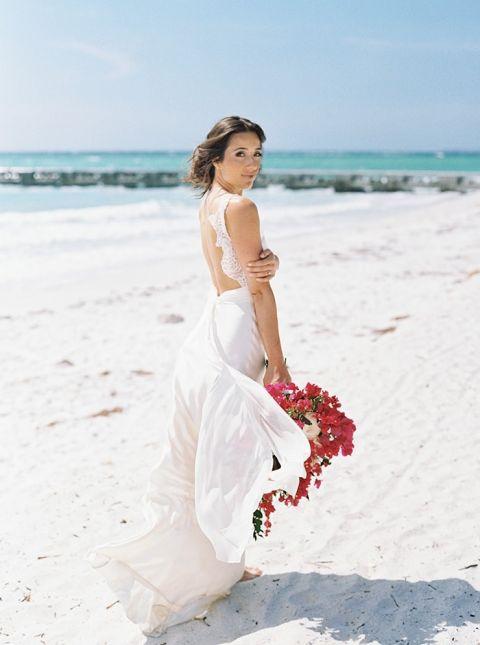 Dreamy Island Wedding in Fuchsia and Dusty Blue