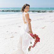 Dreamy Island Wedding in Fuchsia and Dusty Blue
