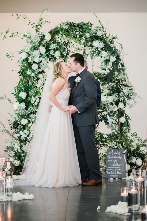 The Most Magical Flower Wedding Arch for a Chic Garden Party