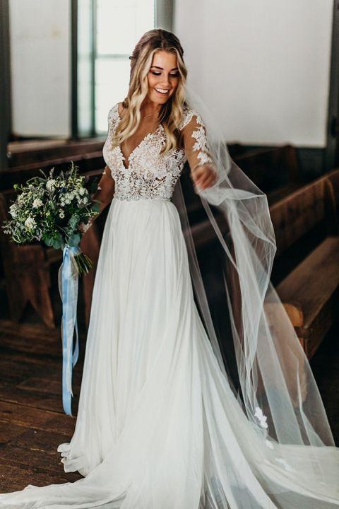 Winter Woodland Wedding With A Boho Bridal Gown Hey Wedding Lady