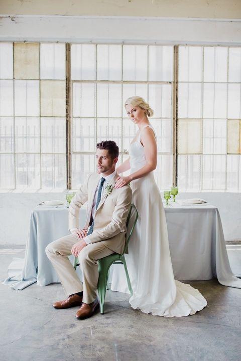City Loft Wedding with Minimalist Modern Style