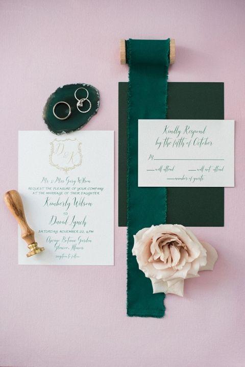 Emerald and Blush Jewel Tones are Always in Season