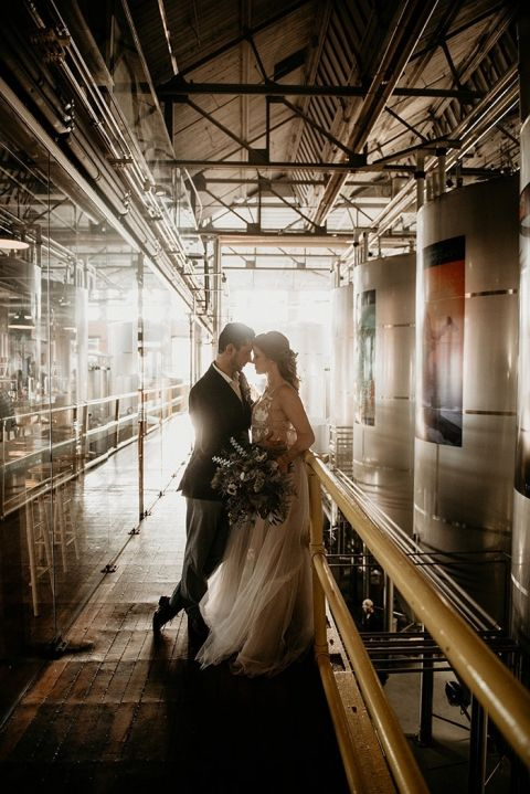 Indie Wedding Ideas at a Craft Brewery