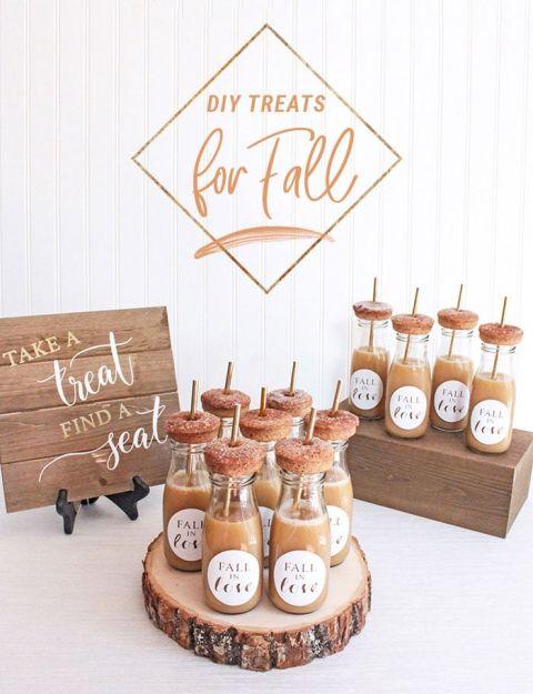 DIY Fall Wedding Desserts and Decor