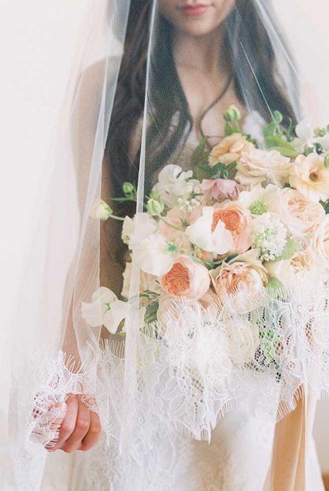 European Elegance in Peach for Dreamy Destination Wedding Inspiration