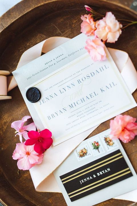 Modern Wine Country Wedding with Pops of Pink