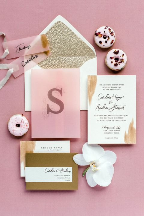 Pink Champagne Inspired this Glam New Year's Eve Wedding