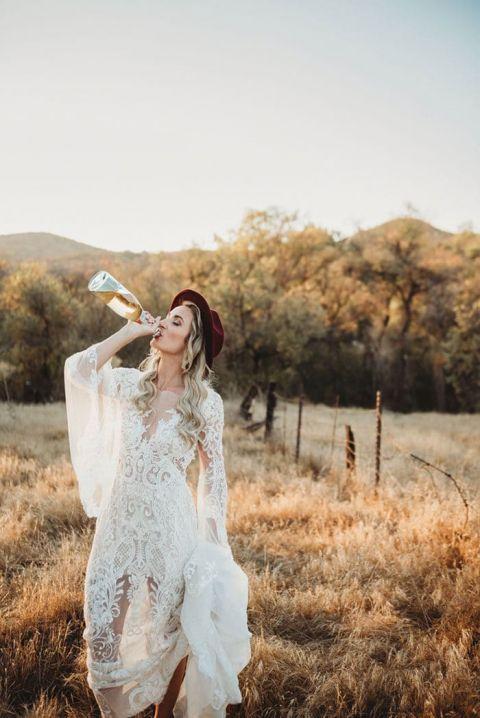 Boho Style For A Rustic Winter Wedding Hey Wedding Lady