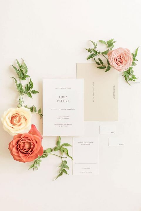 Minimalist Beauty for a Modern Invitation Suite