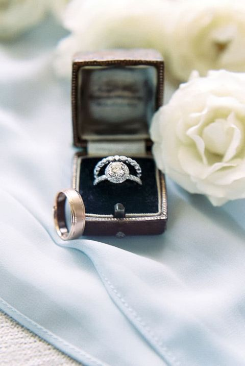 Vintage Inspired Engagement and Wedding Ring Set