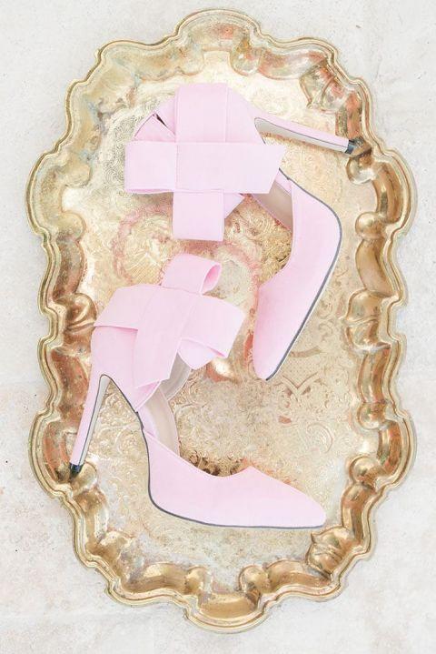 Pastel Pink Bow Heels