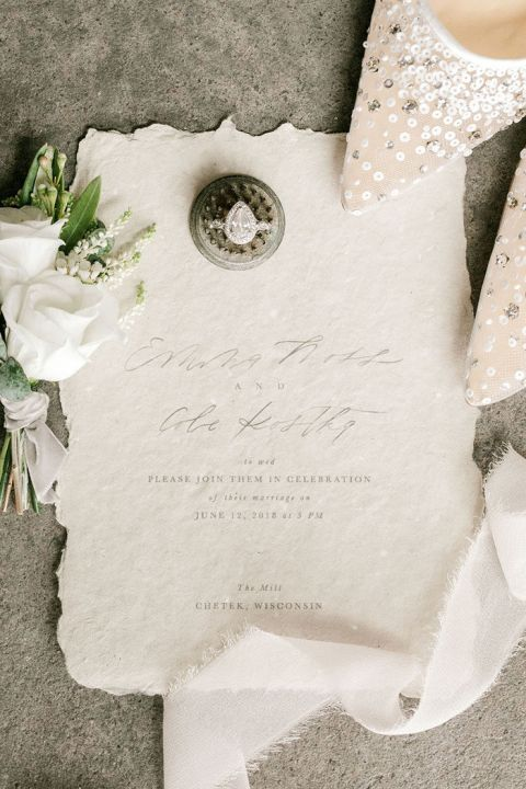 Luxe Gray Wedding Details with Organic Textures