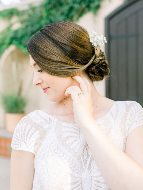 Romantic Low Updo for an Elegant Bridal Hairstyle