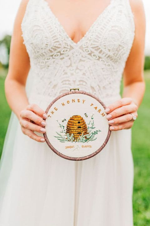 Embroidered Wedding Details
