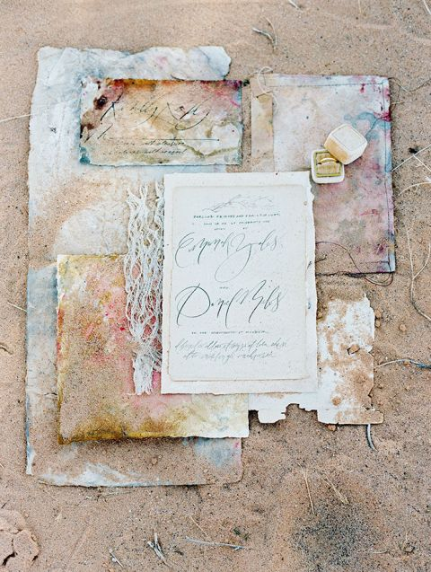 Colorful Invitation Suite for a Modern Boho Desert Elopement