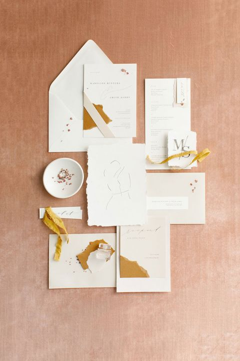 Modern Colorblocked Stationery Design Inspiration
