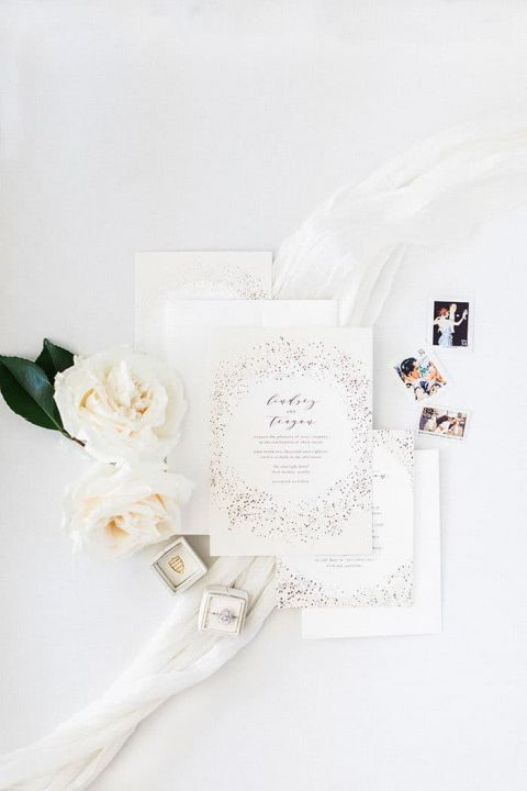 Scattered Stardust Celestial Inspired Invitation Suite
