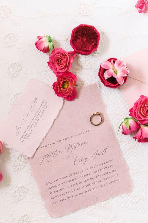 Pretty in Pink Wedding Invitations