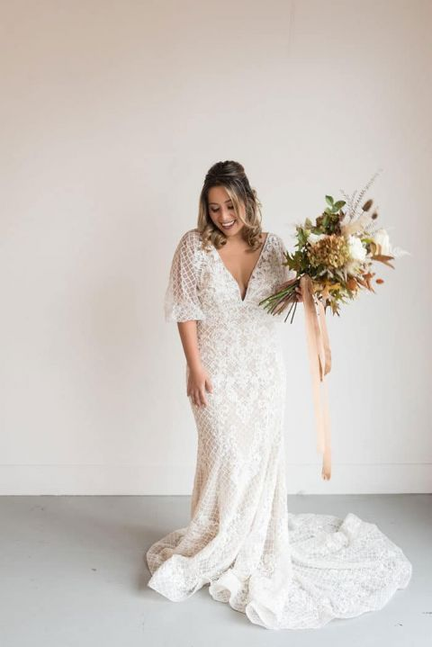 Gorgeous Body Positive Bridal Shoot and Wedding Inspiration