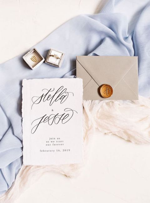 Moody Blue and Airy White Styling for a Dreamy Wedding