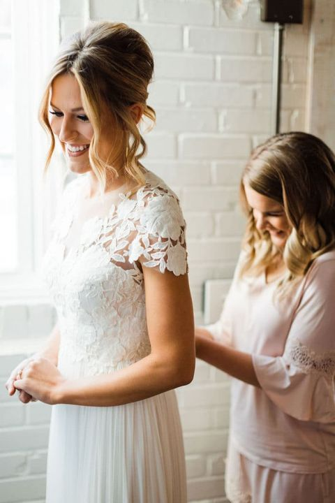 The Perfect Wedding Dress for an Industrial Boho Wedding