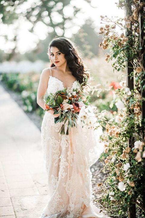 Half Up Half Down Long Bridal Hairstyle Via Elstile Deer Pearl