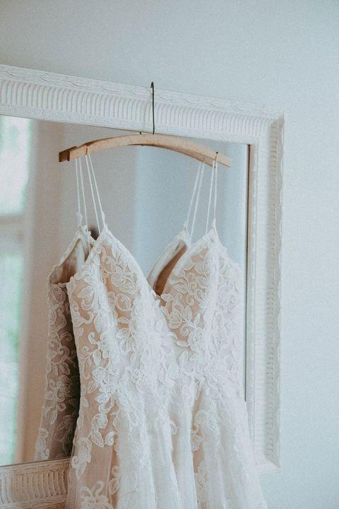 Nude Lace Wedding Dress