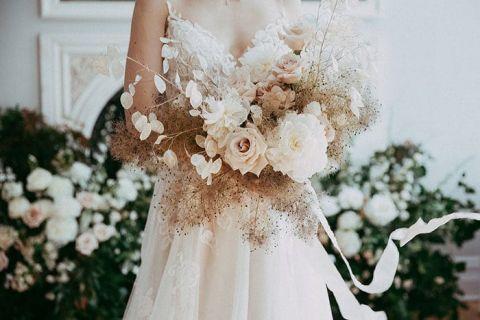 Airy Neutral Wedding Bouquet