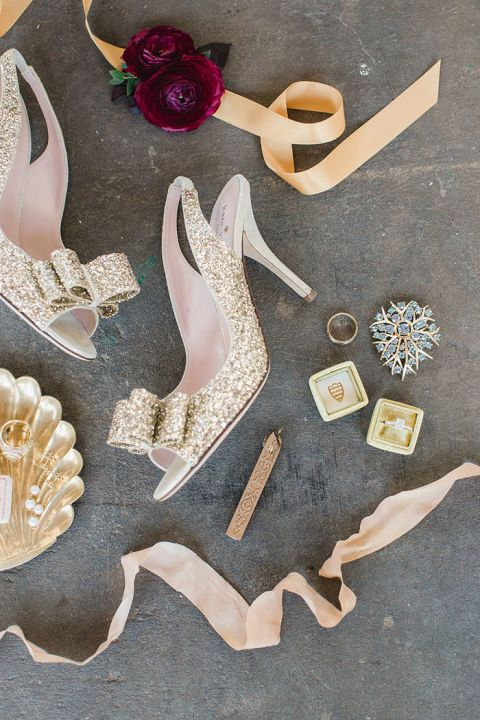 Gold and Glam Bridal Accessories