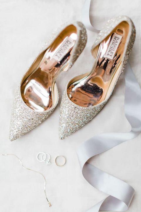 Glitter Badgley Mischka Wedding Shoes