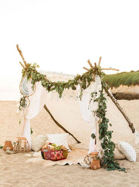 Boho Bridal Shower for the Beach Bride