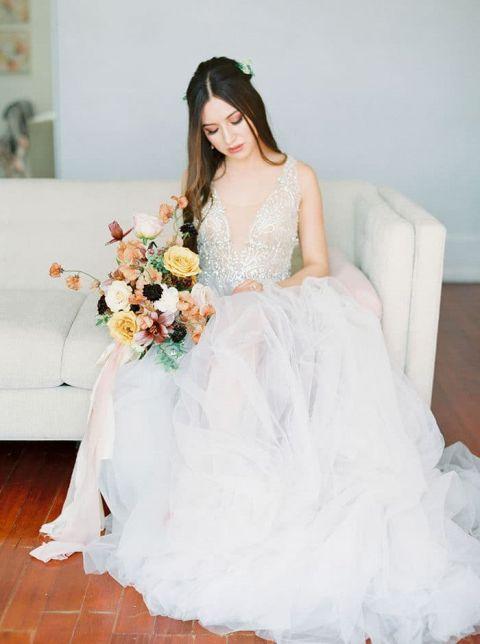 Garnet And Gold Italian Inspired Bridal Shoot Hey Wedding Lady