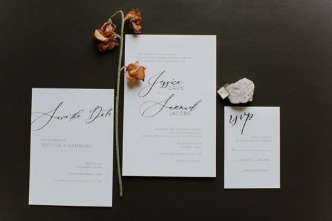 Modern Agate Inspired Wedding Invitations